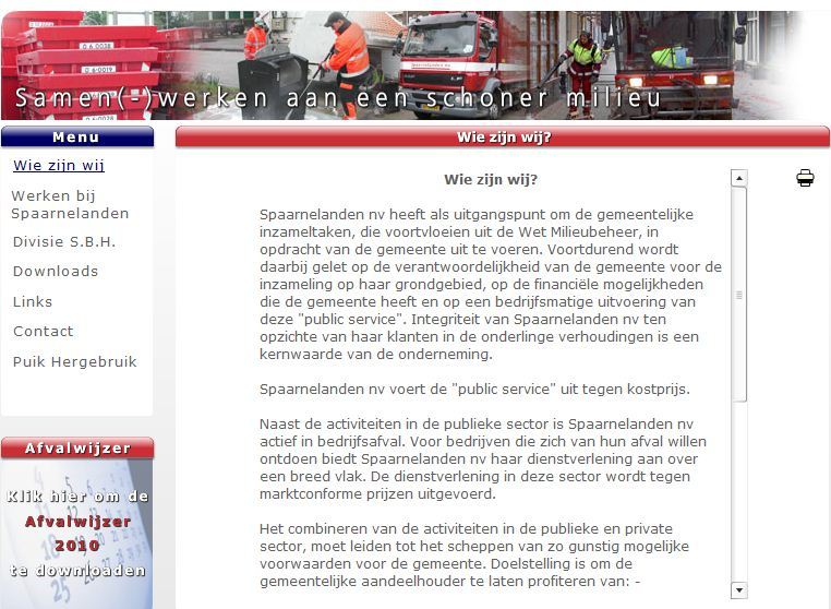 Spaarnelanden website